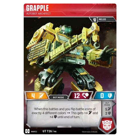 Transformers TCG Card Game Wave 2 Grapple Autobot Architect Robot