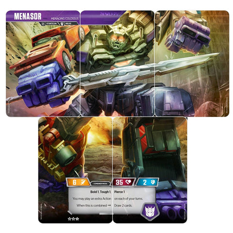Transformers TCG Card Game Combiner Menasor Menacing Collossus set of 5