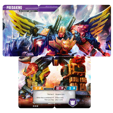 Transformers TCG Card Game Predaking Ferocious Hunter Complete set of 5 Combiner