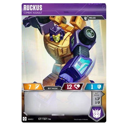 Transformers TCG Card Game Wave 2 Ruckus Combat Assault Front Robot