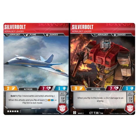 Transformers TCG Silverbolt Aerialbot Leader - Character Card