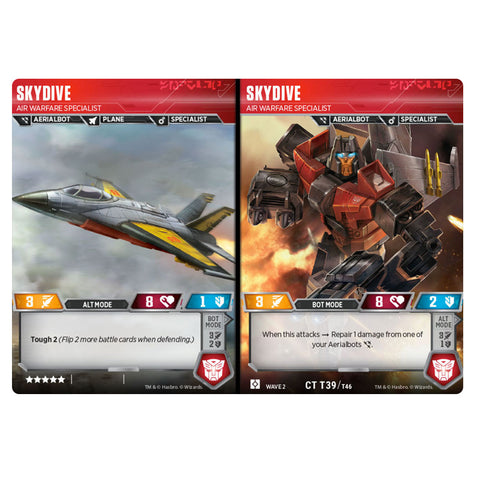Transformers TCG Card Game Skydive Air Warefare Specialist Aerialbot Combiner