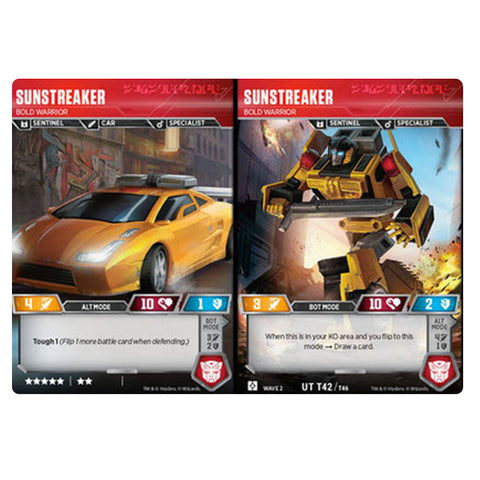 Transformers TCG Card Game Sunstreaker Bold Warrior Sentinel Combiner