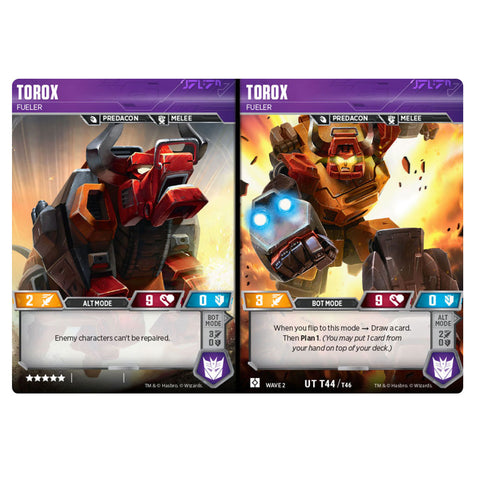 Transformers TCG Card Game Torox Fueler Predacon combiner
