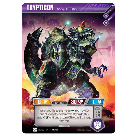 Transformers TCG Card Game Trypticon Assault Base Robot Titan