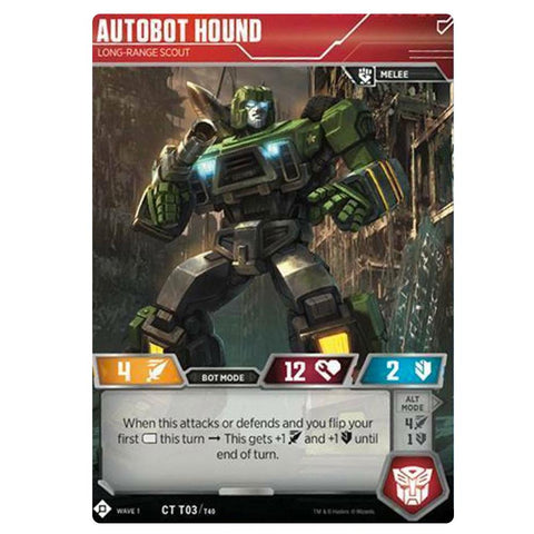 Transformers TCG Card Game Autobot Hound Long-Range Scout Front Robot