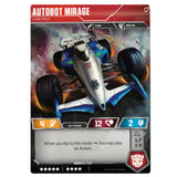 Transformers TCG Card Game Autobot Mirage Lone Wolf Back Race Car