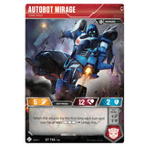 Transformers TCG Card Game Autobot Mirage Lone Wolf Front Robot
