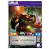 Transformers TCG Card Game Barrage Merciless Insecticon Front