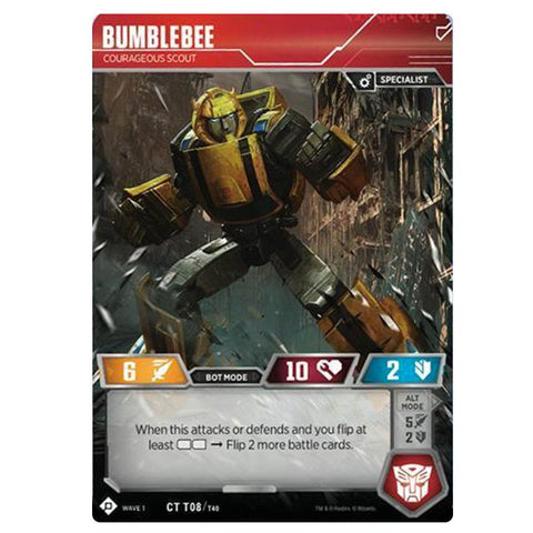 Transformers TCG Card Game Bumblebee Curageous Scout Robot Front