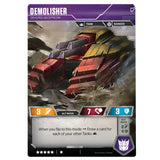 Transformers TCG Card Game Demolisher Devoted Decepticon Tank back side