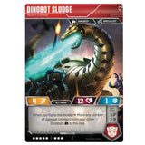 Transformers TCG Card Game Dinobot Sludge Mighty Stomper Dinosaur Back
