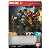 Transformers TCG Card Game Dinobot Slug Hot-Headed Warrior Dinosaur Back