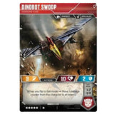 Transformers TCG Card Game Dinobot Swoop Fearsome Flyer Back dinosaur mode