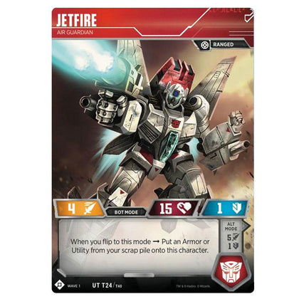 Transformers TCG Card Game Jetfire Air Guardian Robot Front