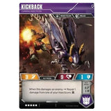 Transformers TCG Card game Kickback Cunning Insecticon Alt-mode Back Artwork