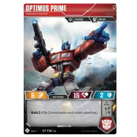 Transformers TCG Card Game Optimus Prime Freedom Fighter Front