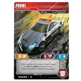 Transformers TCG Card Game Wave 1 Prowl Military Strategist Back Vehicle
