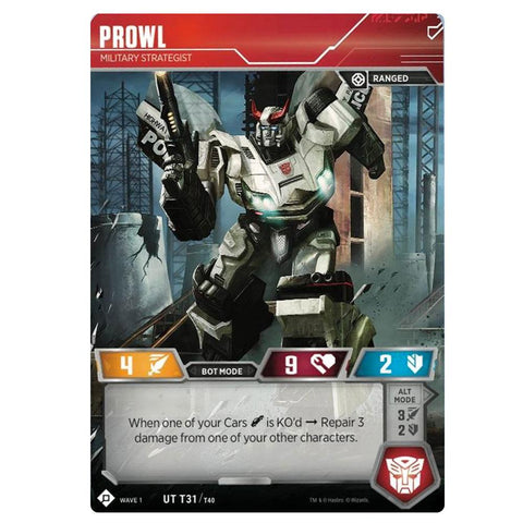 Transformers TCG Card Game Wave 1 Prowl Military Strategist Front Robot