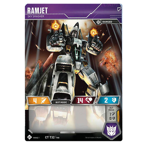 Transformers TCG Card Game Ramjet Sky Smasher Robot Front
