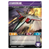 Transformers TCG Card game Starscream Scheming Second-in-Command Back Jet Mode