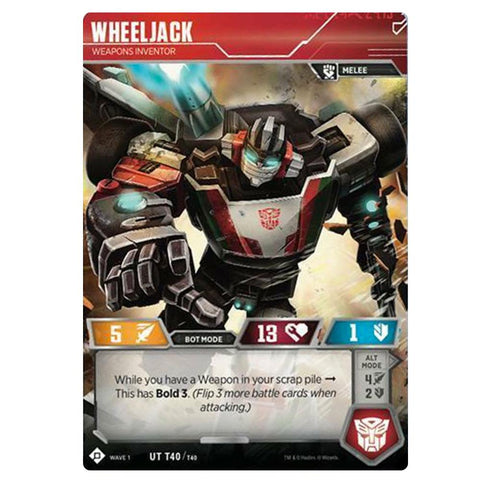 Transformers TCG Card Game Wave 1 Wheeljack Weapons Inventor Robot Front