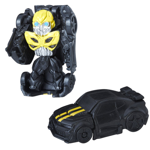 Transformers Tiny Turbo Changers The Last Knight Series I Knight Strike Bumblebee BLack Bumblebee movie toy