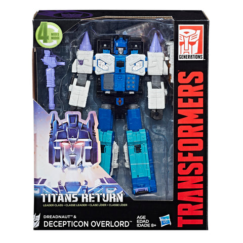Transformers Titans Return Leader Overlord & Dreadnaught Decepticon Box Package