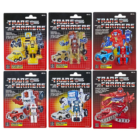 Transformers Generation 1 Vintage Reissue minibots bumblebee gears warpath outback tailgate swerve