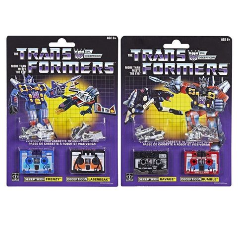 Transformers Vintage G1 Generation 1 Decepticon Cassettes Casseticon Rumble Ravage Frenzy Laserbeak