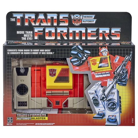 Transformers Vintage G1 Autobot Blaster Robot Toy Front Walmart Exclusive Box package front