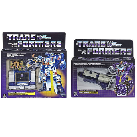 Transformers Vintage G1 Astrotrain & Soundwave Reissues - 2 Figure Bundle