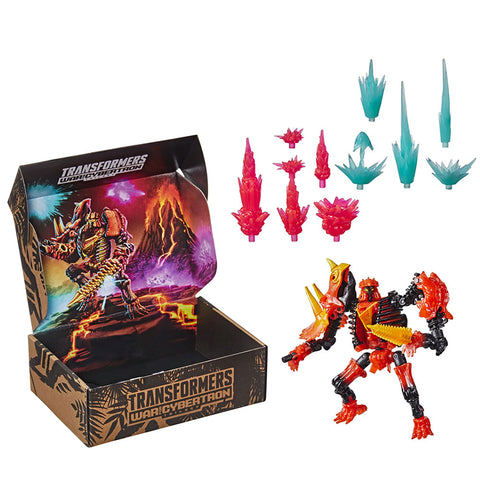 Transformers War for Cybertron Kingdom WFC-K39 deluxe Tricranius Fossilizer Pulse Exclusive box package toy accessories