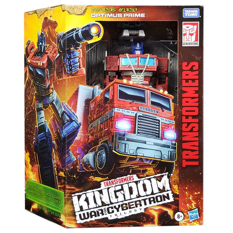 Transformers War for Cybertron Kingdom WFC-K11 Leader Optimus Prime box package front