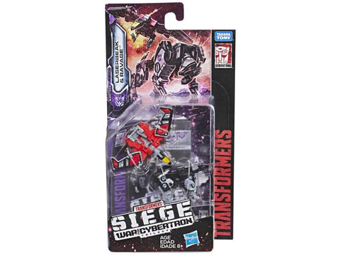 Transformers War For Cybertron Siege WFC-S18 Micromaster Soundwave Spy Patrol Ravage and Laserbeak Box Package