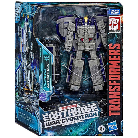 Transformers War for Cybertron: Earthrise WFC-E12 Astrotrain Leader Box Package Front