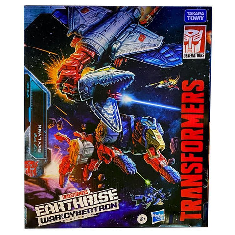 Transformers War For Cybertron Earthrise WFC-E24 Commander Class Sky Lynx Box Package Front