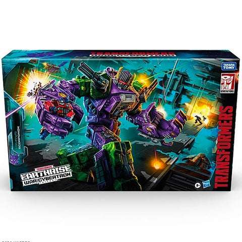 Transformers War for Cybertron Earthrise WFC-E25 Titan Scorponok Box Package Front