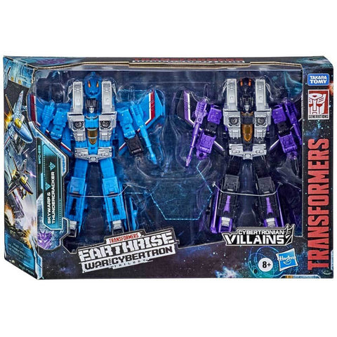 Transformers War for Cybertron WFC-E29 Voyager Seeker Thundercracker Skywarp Box Package Front