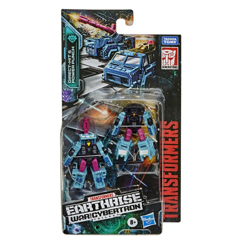 Transformers War For Cybertron Earthrise WFC-E40 Direct-hit Power Punch Micromaster Battle Squad Repack Box Package Front