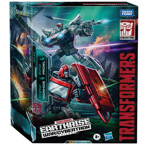Transformers War for Cybertron Earthrise WFC-E31 Prowl Ironhide Autobot Alliance2-pack Box package front