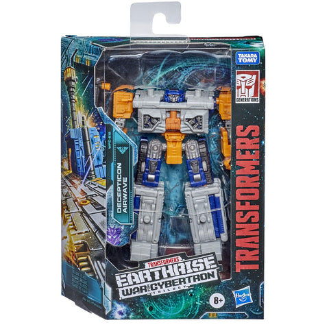 Transformers War for Cybertron Earthrise WFC-E18 Deluxe Decepticon Airwave Modulator Box Package Front