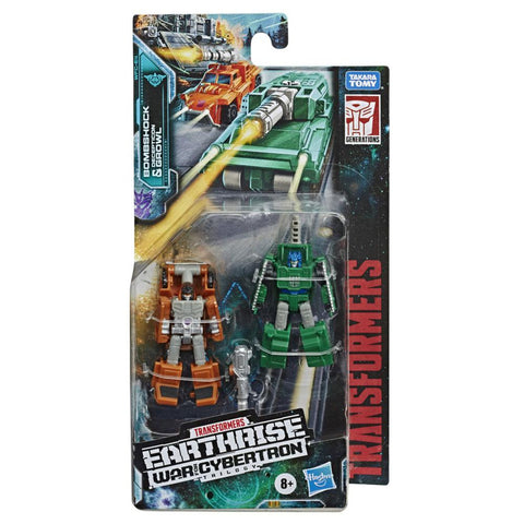 Transformers War For Cybertron Earthrise WFC-E4 Decepticon Micromaster MIlitary Patrol Bombshock Growl Box Package Front