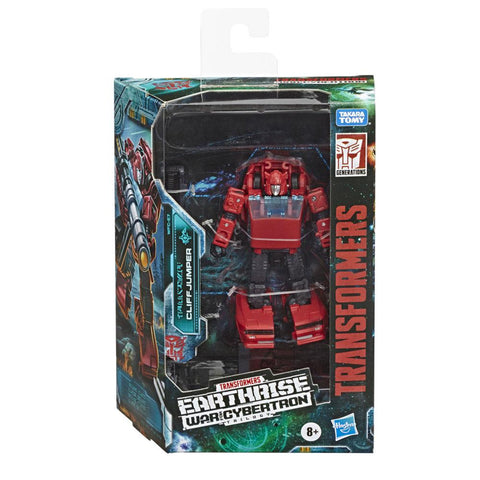 Transformers War for Cybertron Earthrise WFC-E7 Deluxe Cliffjumper Box Package Front