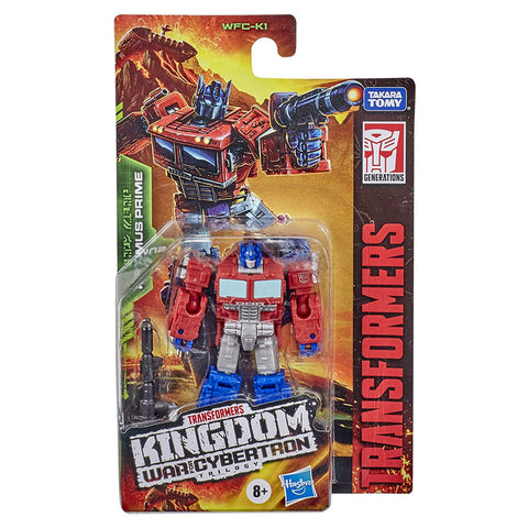 Transformers War for Cybertron Kingdom WFC-K1 Core Optimus Prime box package front