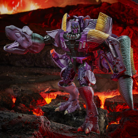 Transformers War for Cybertron Kingdom WFC-K10 Leader Beast Wars Megatron Purple Robot Dinosaur Toy action figure photo
