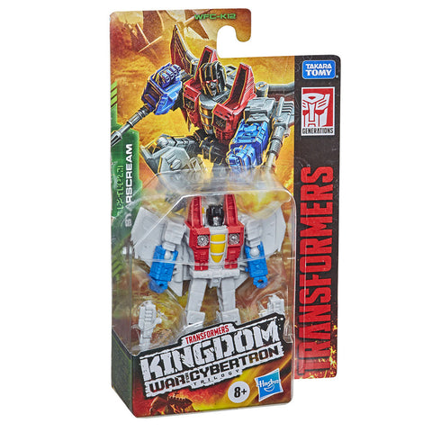 Transformers War For Cybertron Kingdom WFC-K12 Core Starscream box package front angle