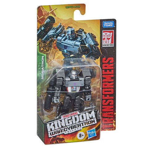Transformers War for Cybertron Kingdom WFC-K13 Core Megatron Box Package front angle