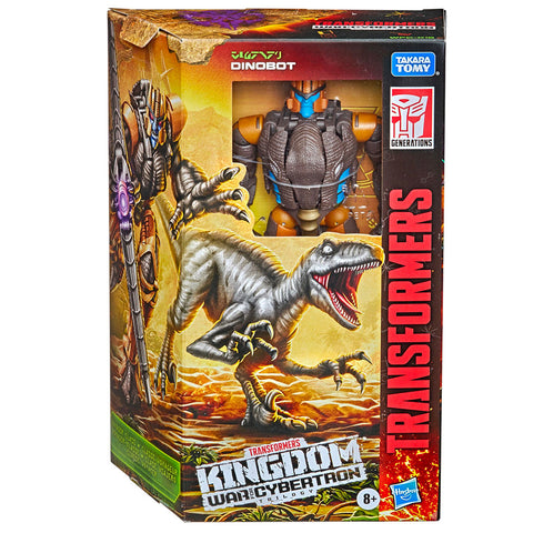 Transformer War for Cybertron Kingdom WFC-K18 Voyager Dinobot box package front