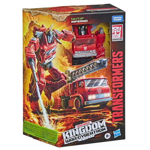Transformers War for Cybertron WFC-K19 Voyager G1 Inferno box package front angle